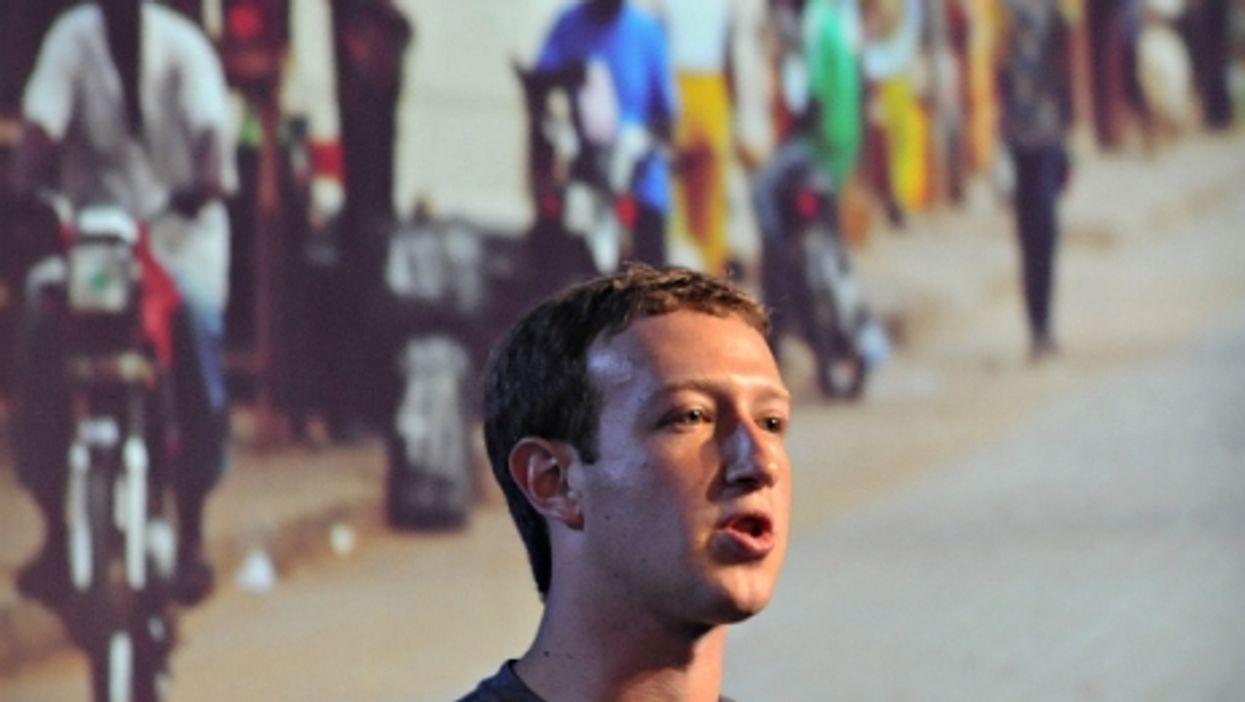 Facebook CEO Mark Zuckerberg in New Delhi in 2014