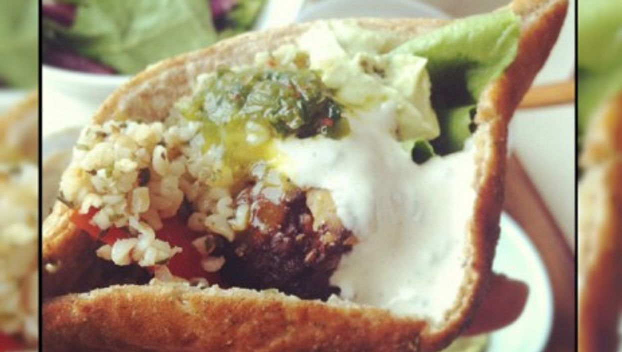 Falafel sandwich for the middle class