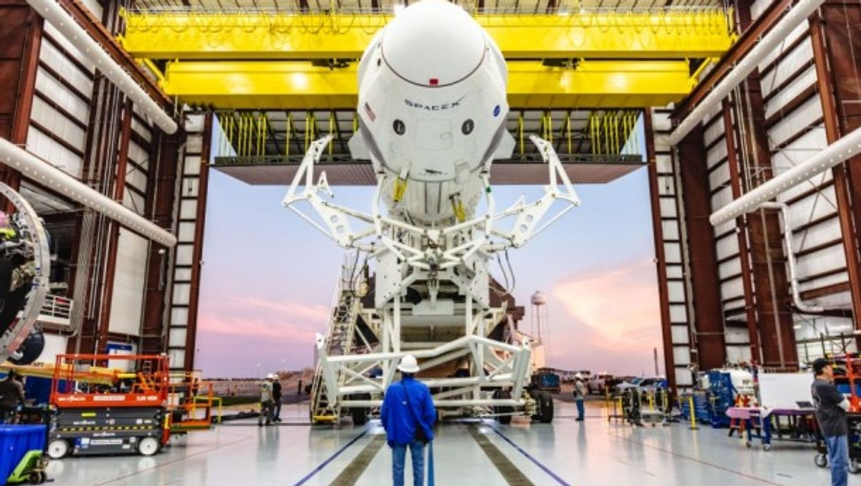 Falcon 9 rocket from Space X at Kennedy Space Center in Florida