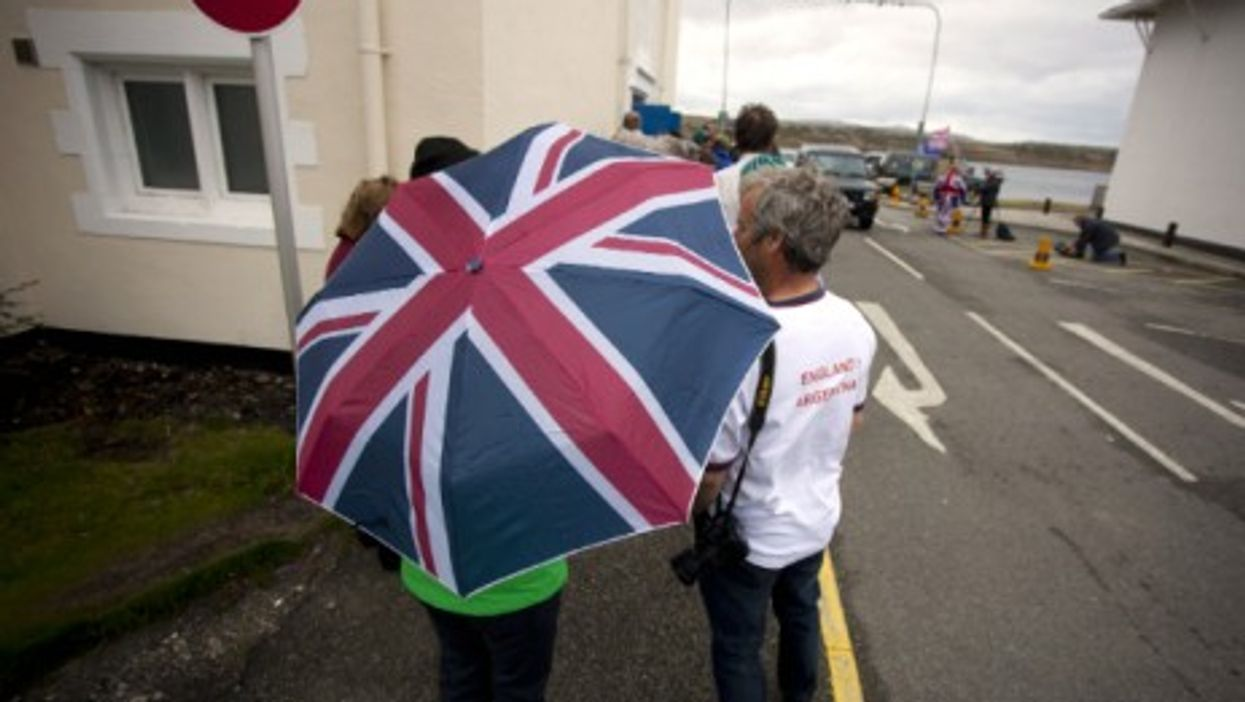Falkland islanders in March 2013