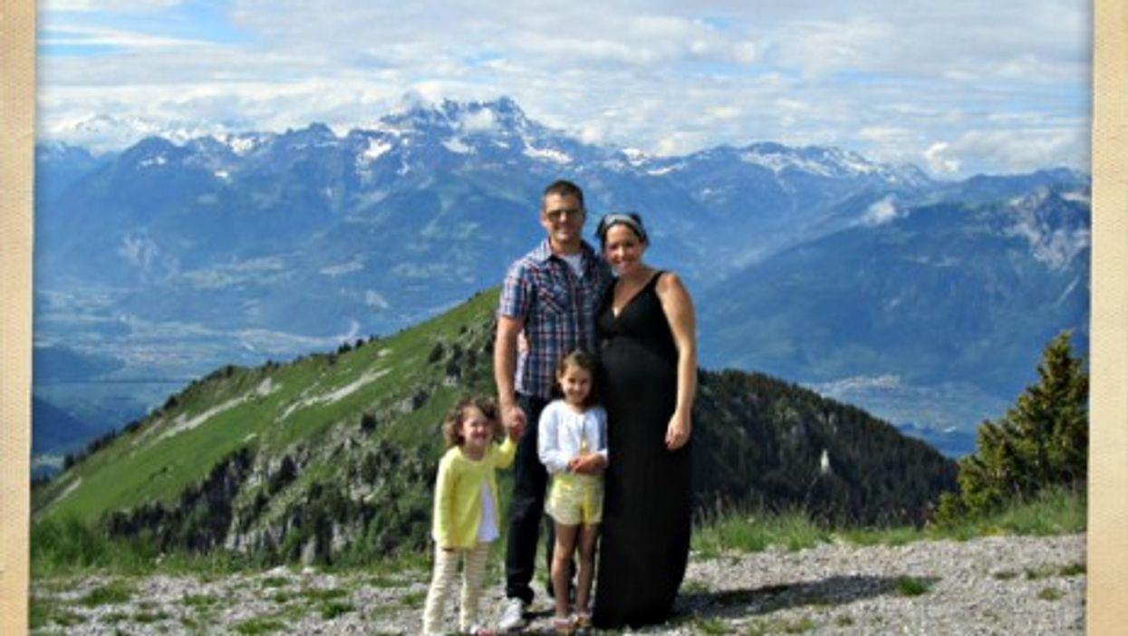 Family portrait in Leysin, Switzerland