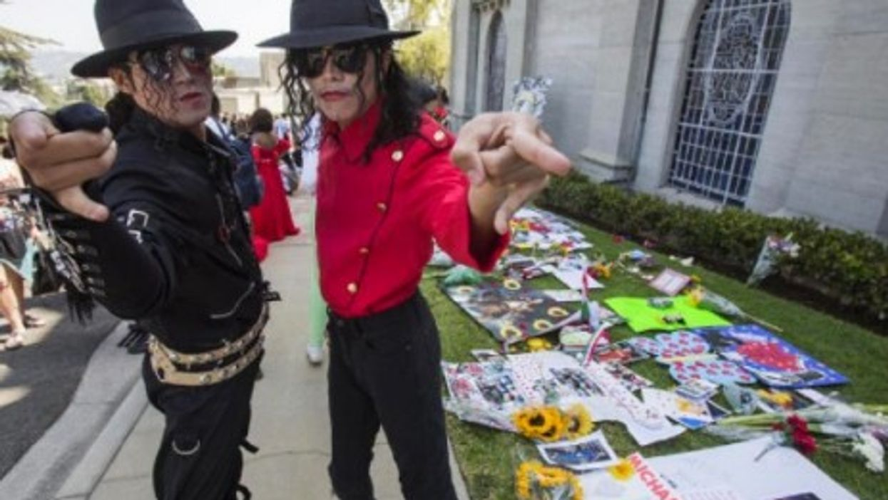 Fans gathered Wednesday at Forest Lawn Memorial Park in Glendale, CA, on the five-year anniversary of the Michael Jackson's death.