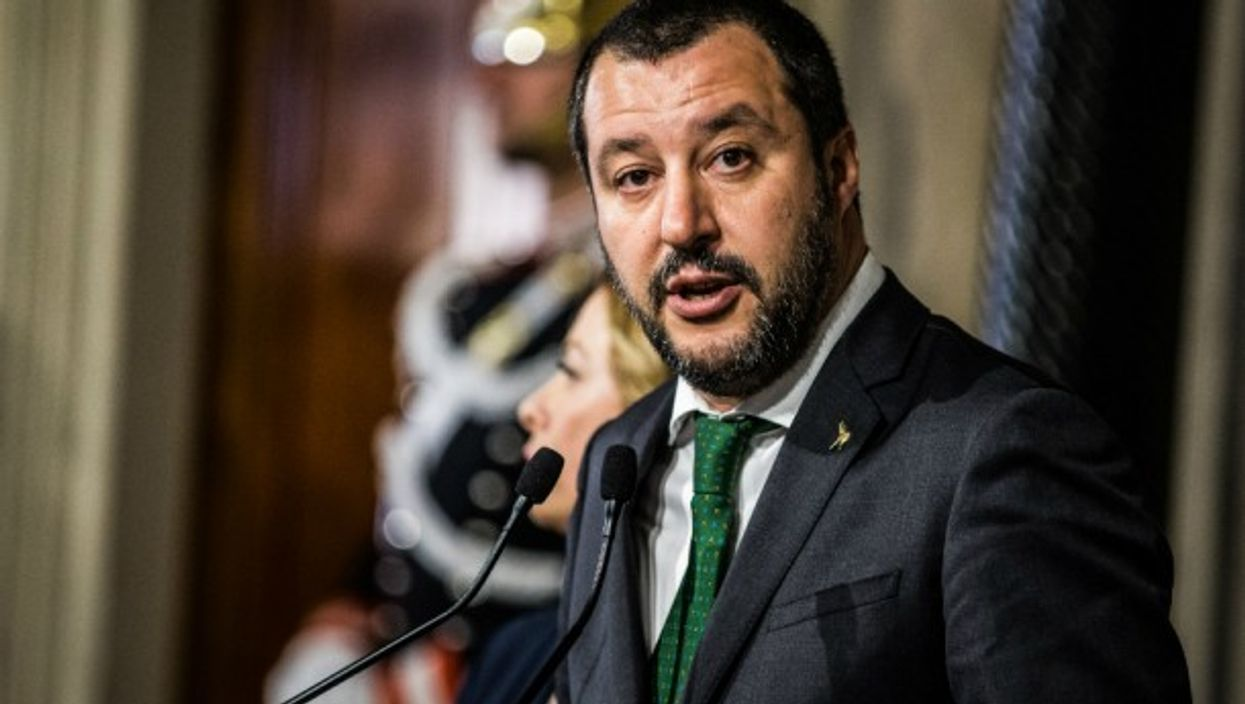 Far-right League party's leader Matteo Salvini in Rome, Italy on April 12