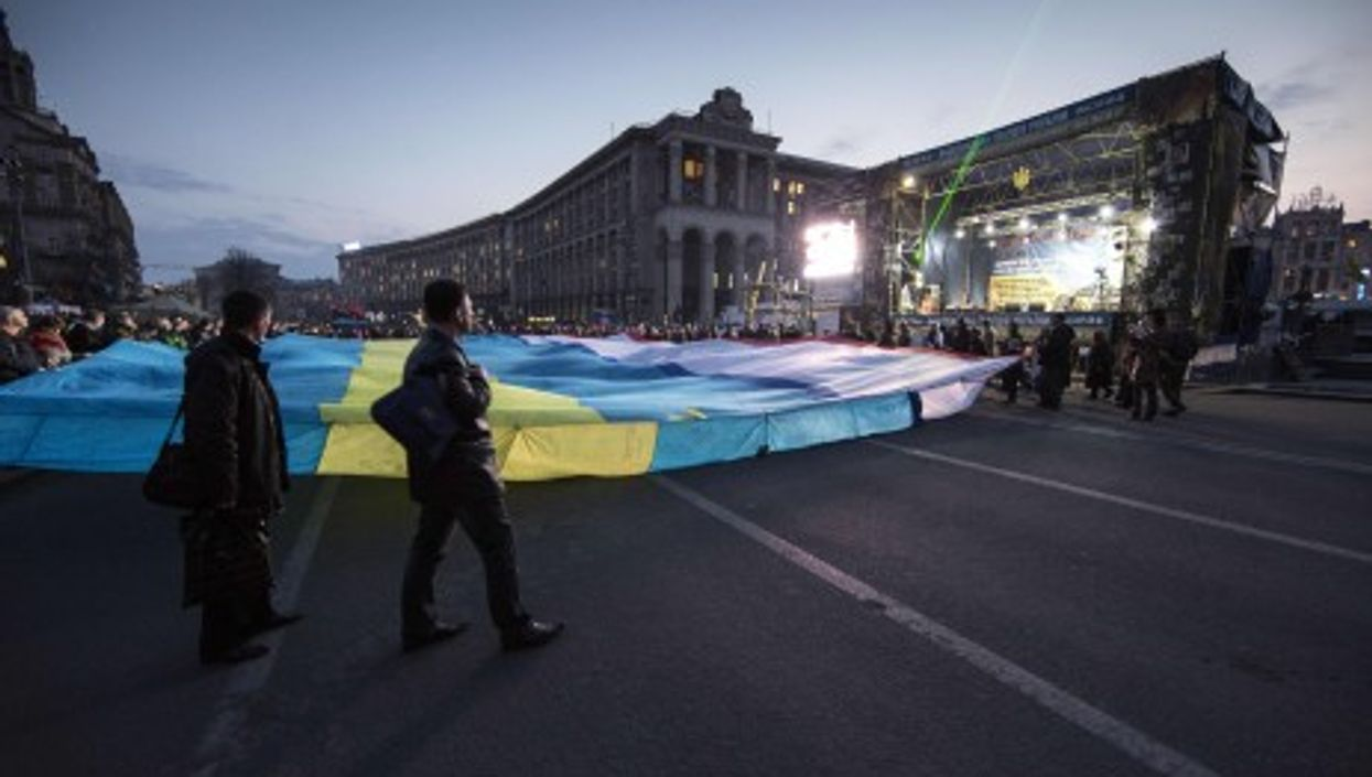 Far right protesters attack Ukraine's Parliament.