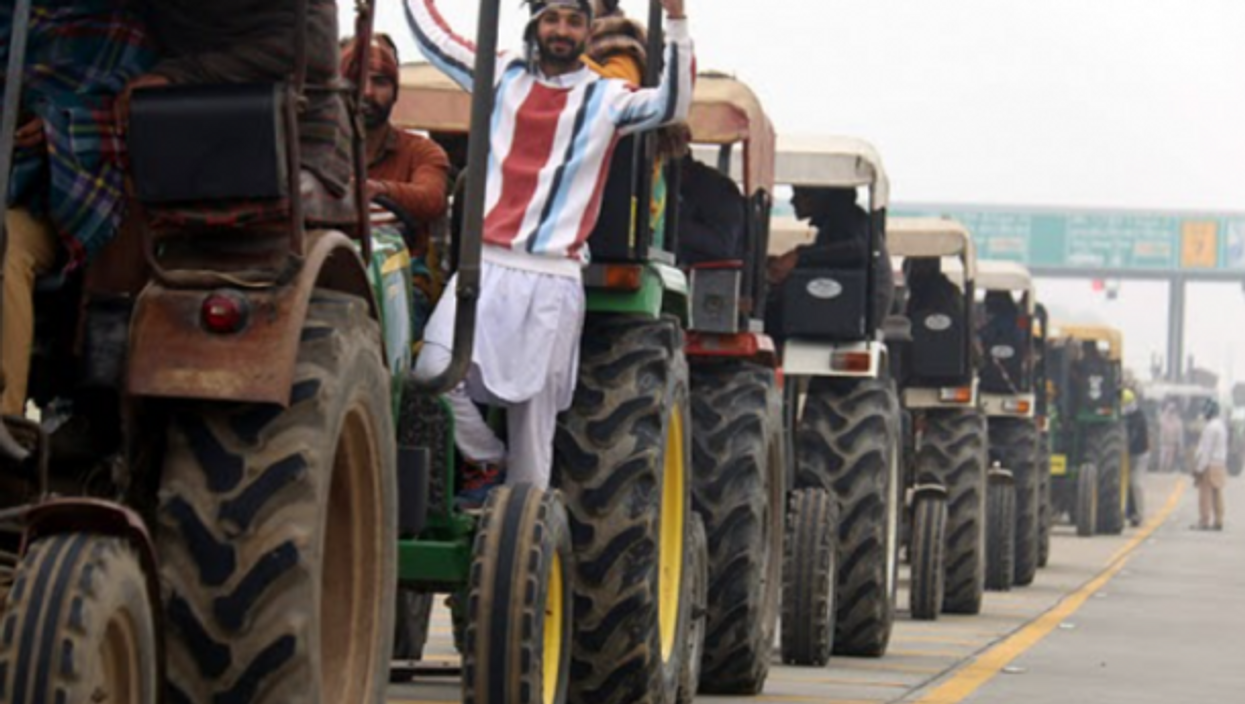 Farmers in India continue to protest against the government's contentious agricultural bills while the country today celebrates its 72nd Republic Day.