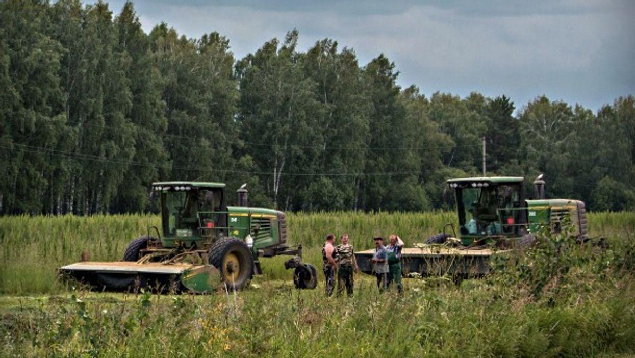 Farmers in Yerban, Russia
