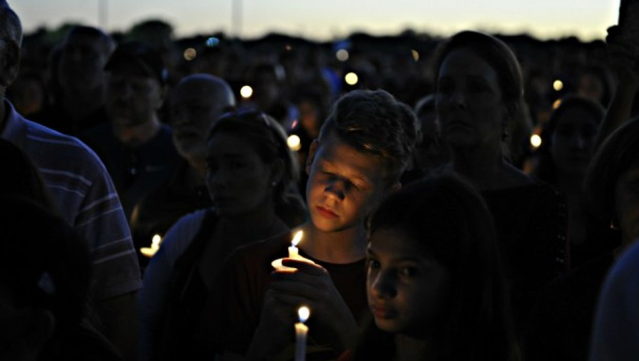 Feb. 16 vigil for the victims of the Florida shooting
