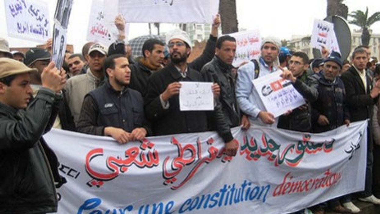 Feb. 20 pro-democracy protests in the Moroccan capital of Rabat