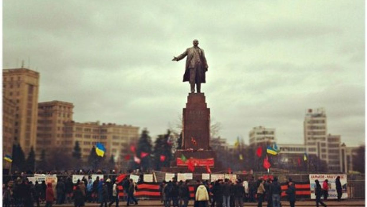 Feb. 23 protests in Kharkiv's Freedom Square
