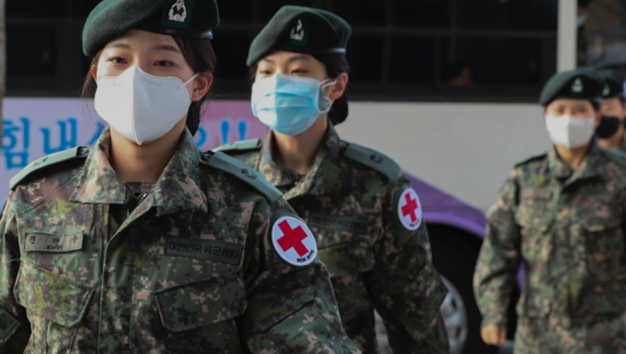 Female medical workers from South Korea's army