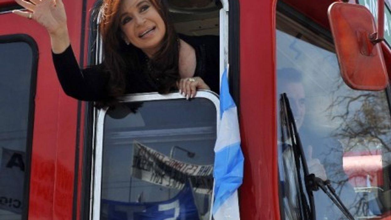 Fernández de Kirchner on the campaign trail