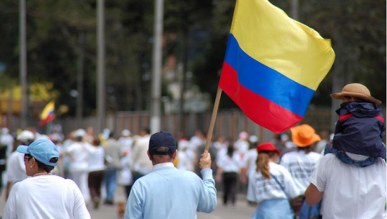 File photo of a Colombian peace march