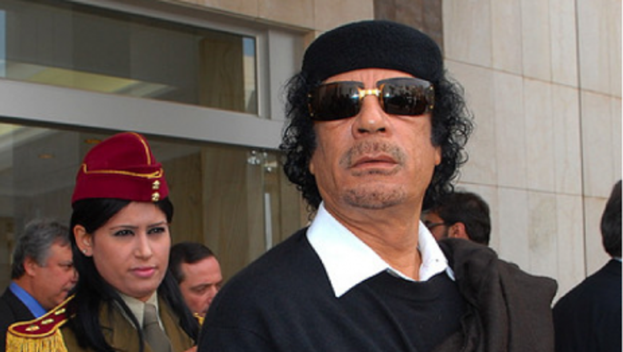 File photo of Muammar Gaddafi (Ammar Abd Rabbo)