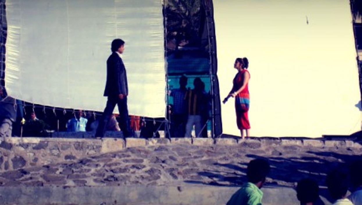 Filming in Bandra, a suburb of Mumbai