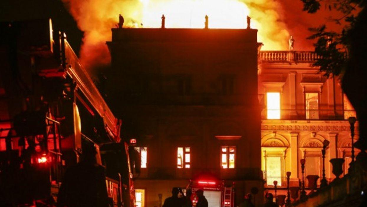 Fire at Rio de Janeiro's National Museum on Sept. 3