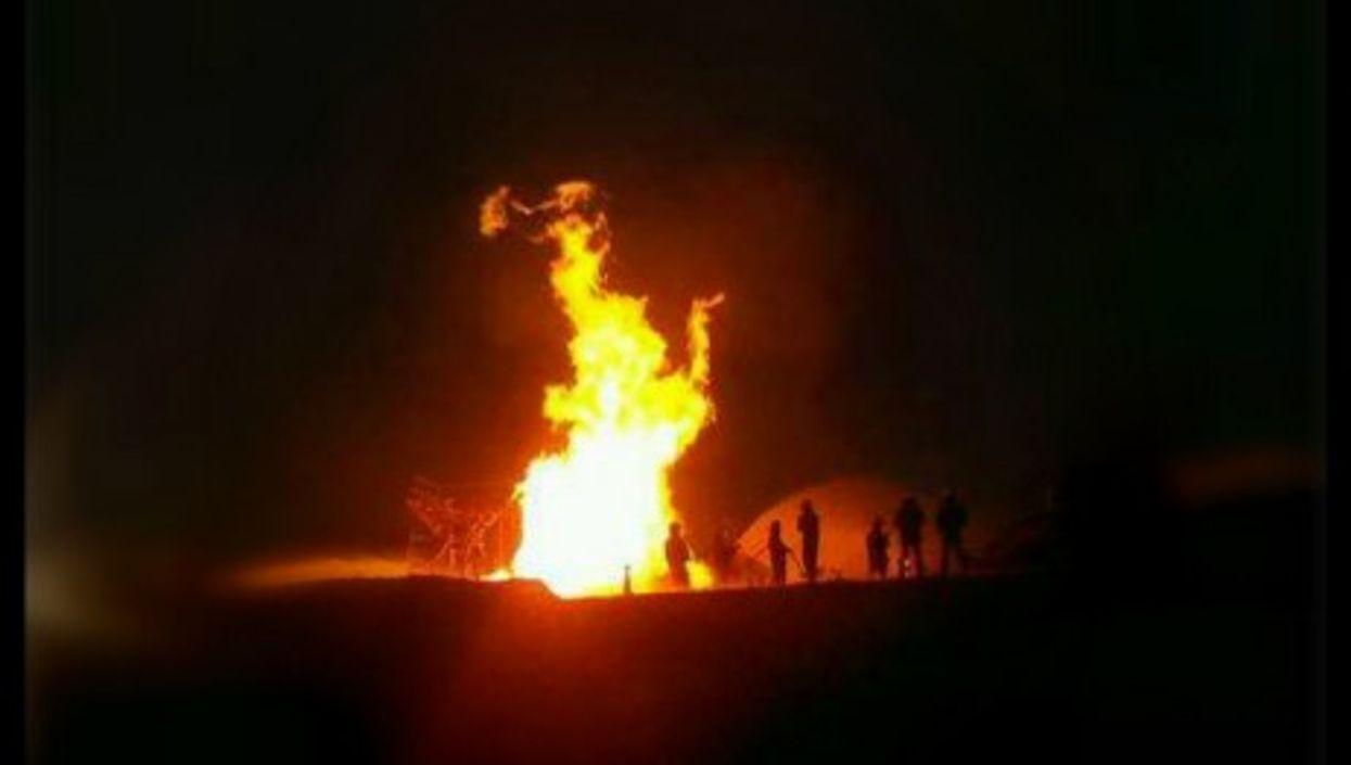Fire in Plottier