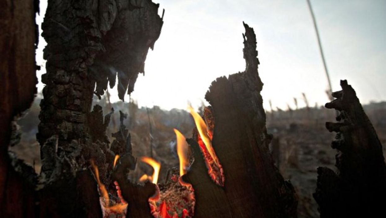 Fire in Rondonia, Porto Velho, Brazil on Aug. 26