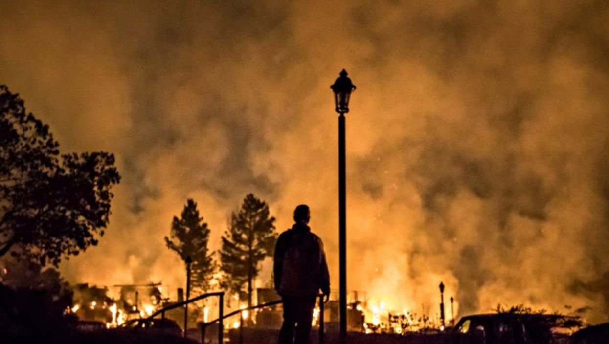 Fires rage in Santa Rosa, California on Tuesday