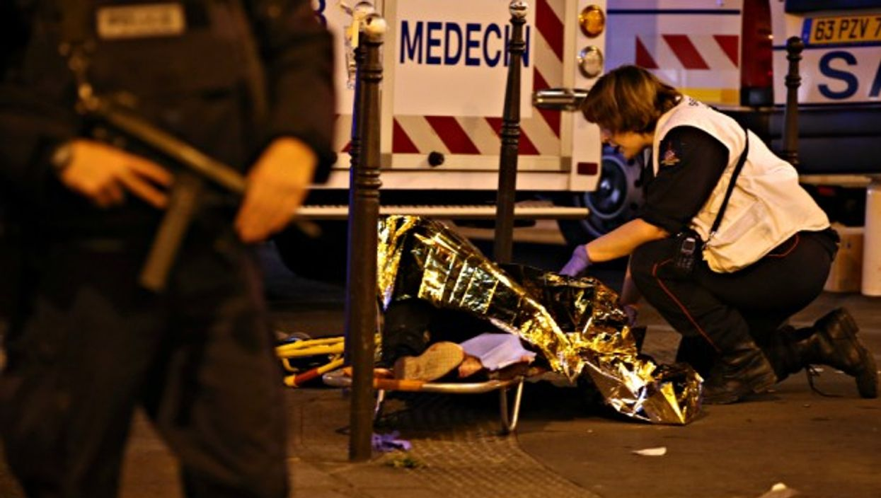 First aid on the scene of the Bataclan attack in Nov. 2015