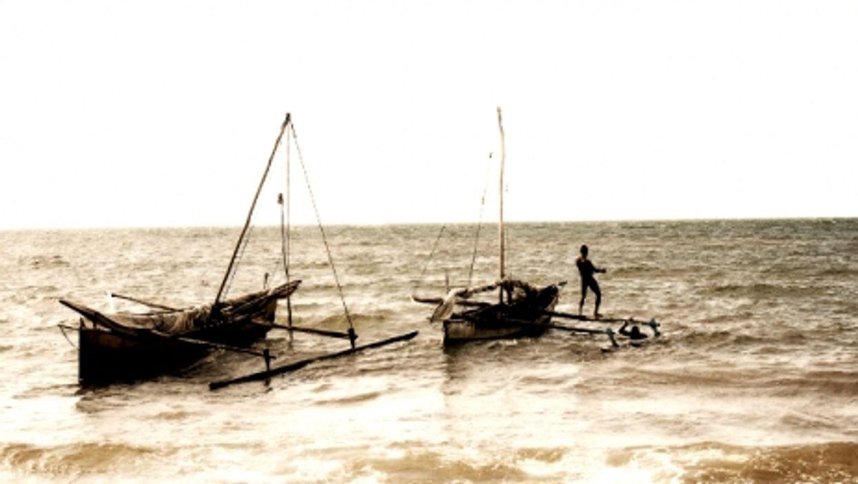 Fishermen in Mahajanga, Madagascar