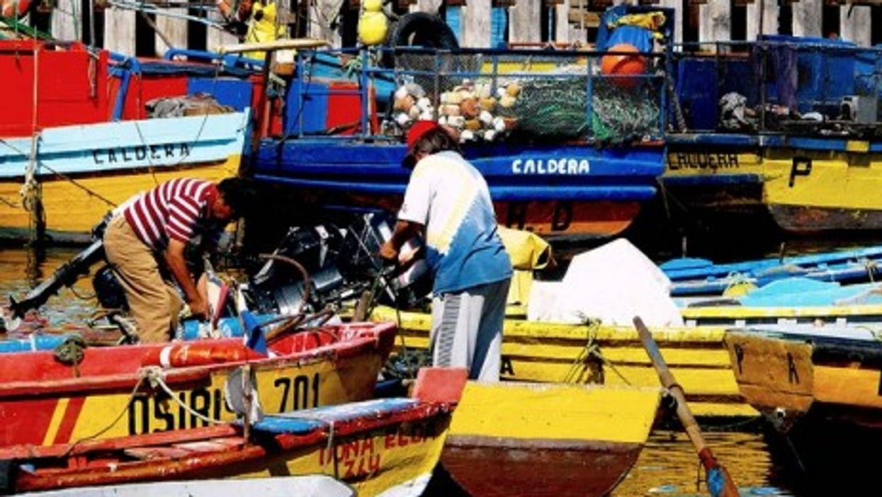 Fishermen in northern Chile, near the border with Peru