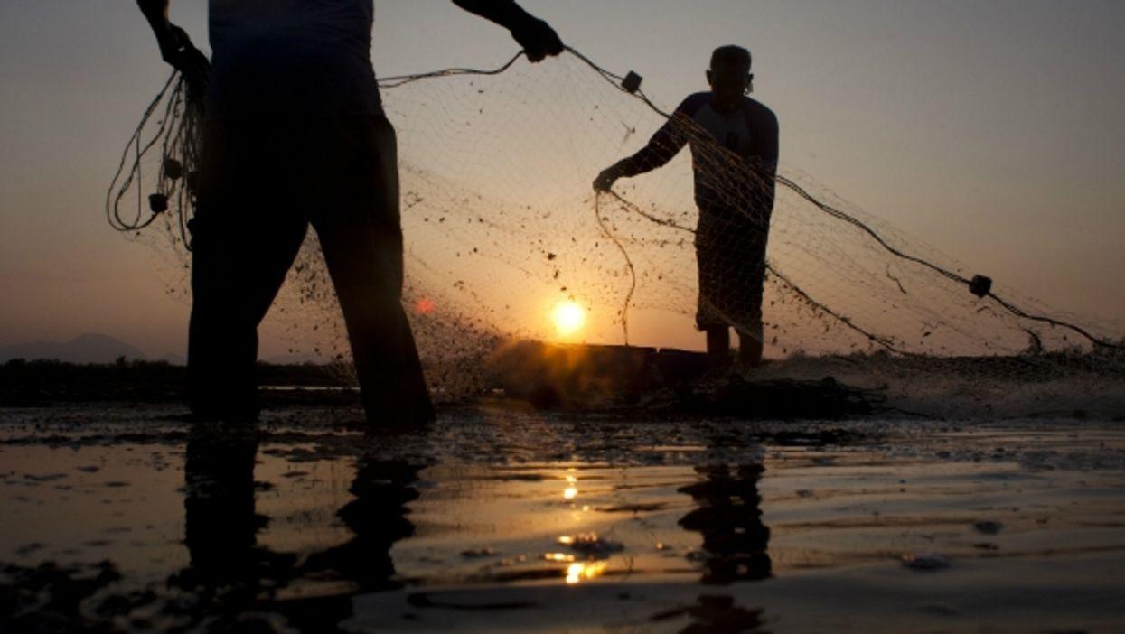 Fishing in Banda Aceh, Indonesia