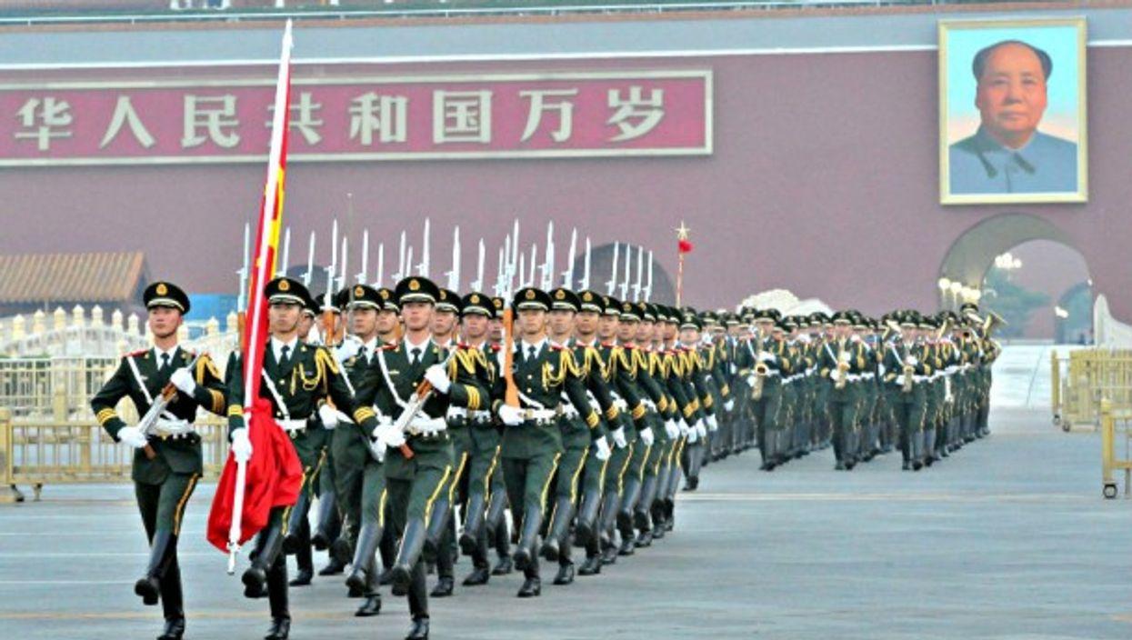 Flag-raising ceremony in Beijing