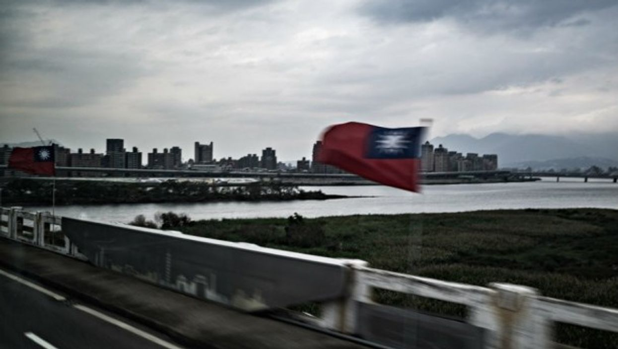 Flags and bridges in Taipei