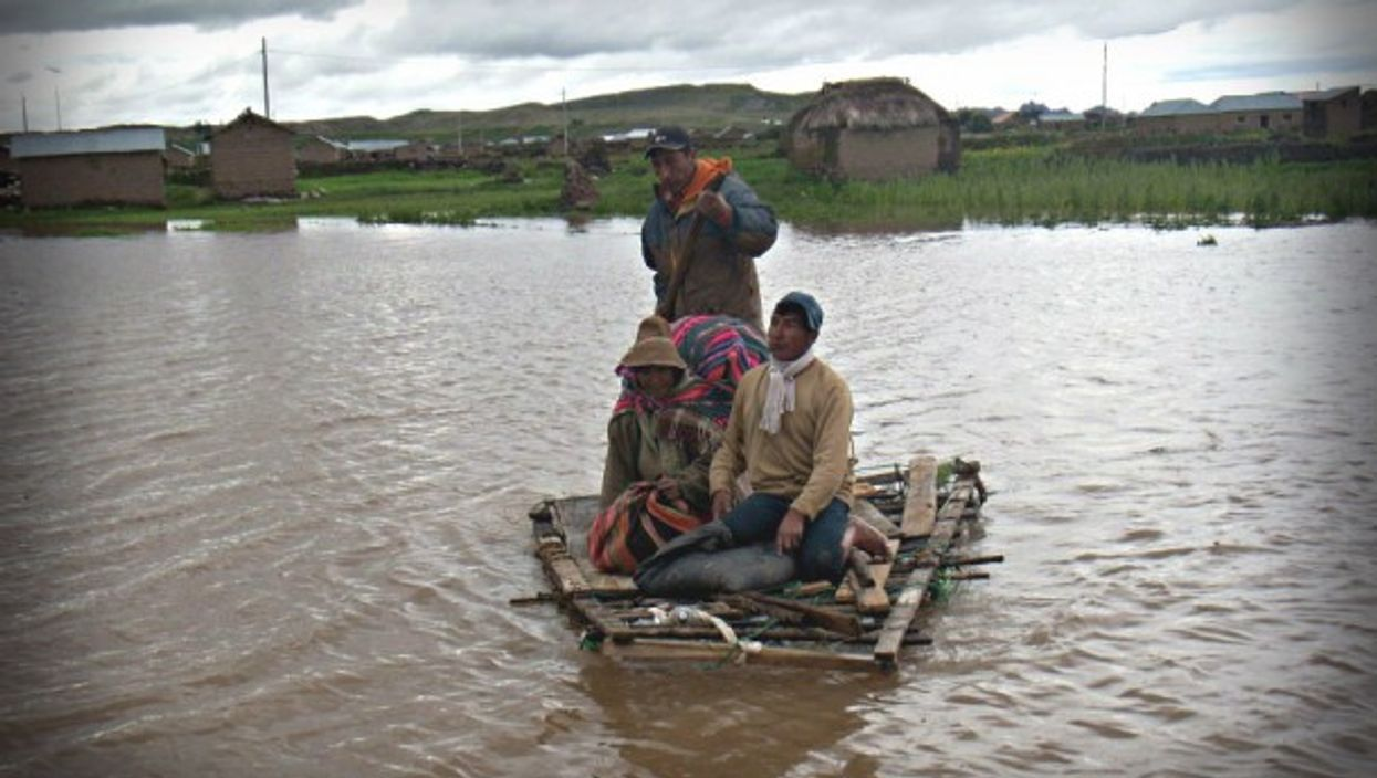 Flood victims in the Pallasca province of Peru in 2012.