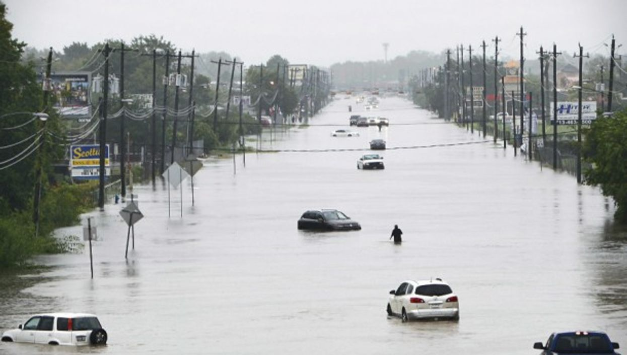 Flooding caused by Hurricane Harvey in Houston on Aug. 27