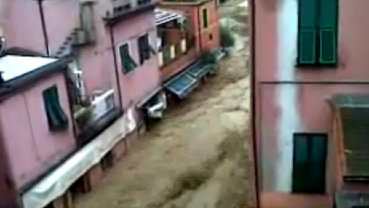 Floods reached the first floor in Monterosso