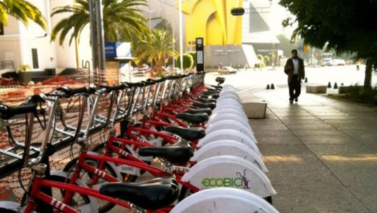 For less than $30 per year, Ecobici users can make as many trips as they want in an area that includes 1,200 bicycles