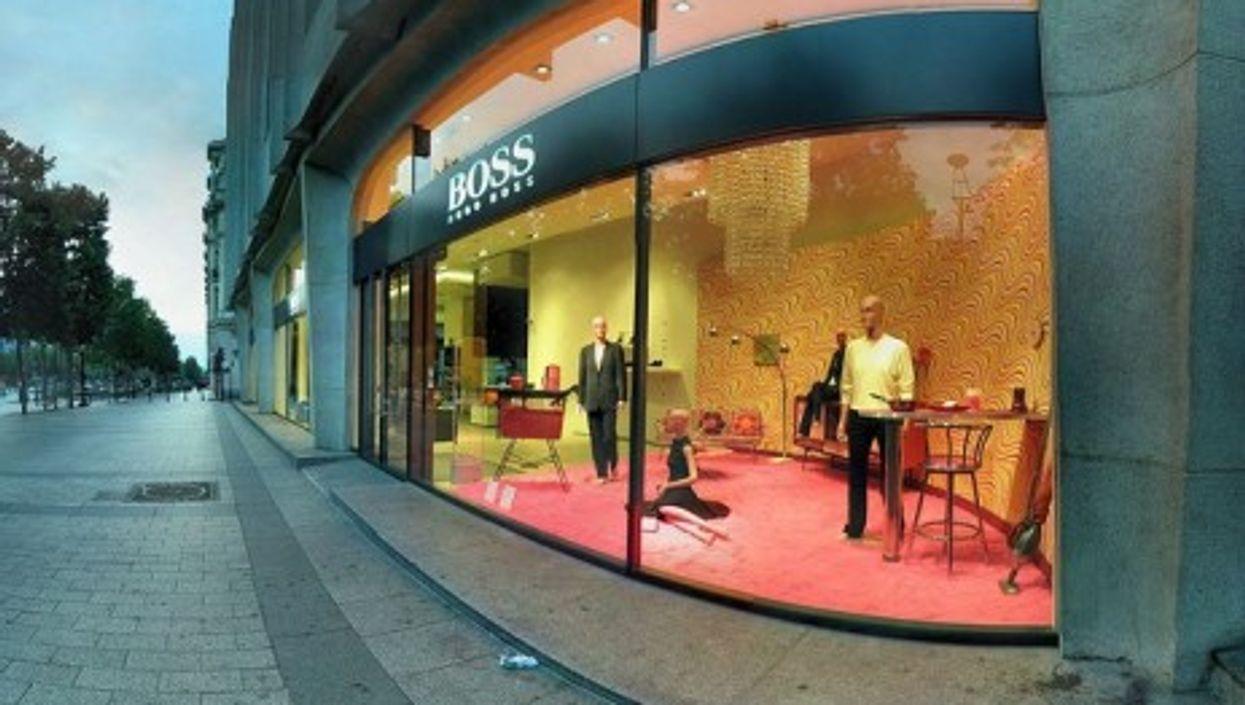 Foreign fashion retailers line the Champs Elysées