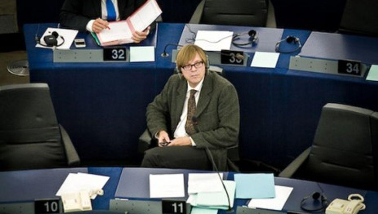 Former Belgian PM Guy Verhofstadt, now a member of the European Parliament