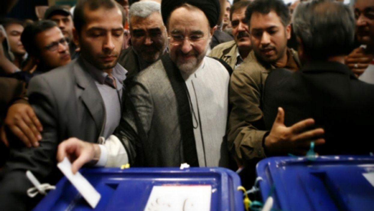 Former Iranian President Mohammad Khatami voting in Tehran in 2009