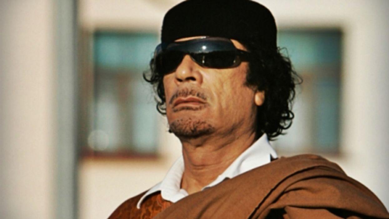 Former Libyan leader Muammar Gaddafi visiting Belarus in November, 2008