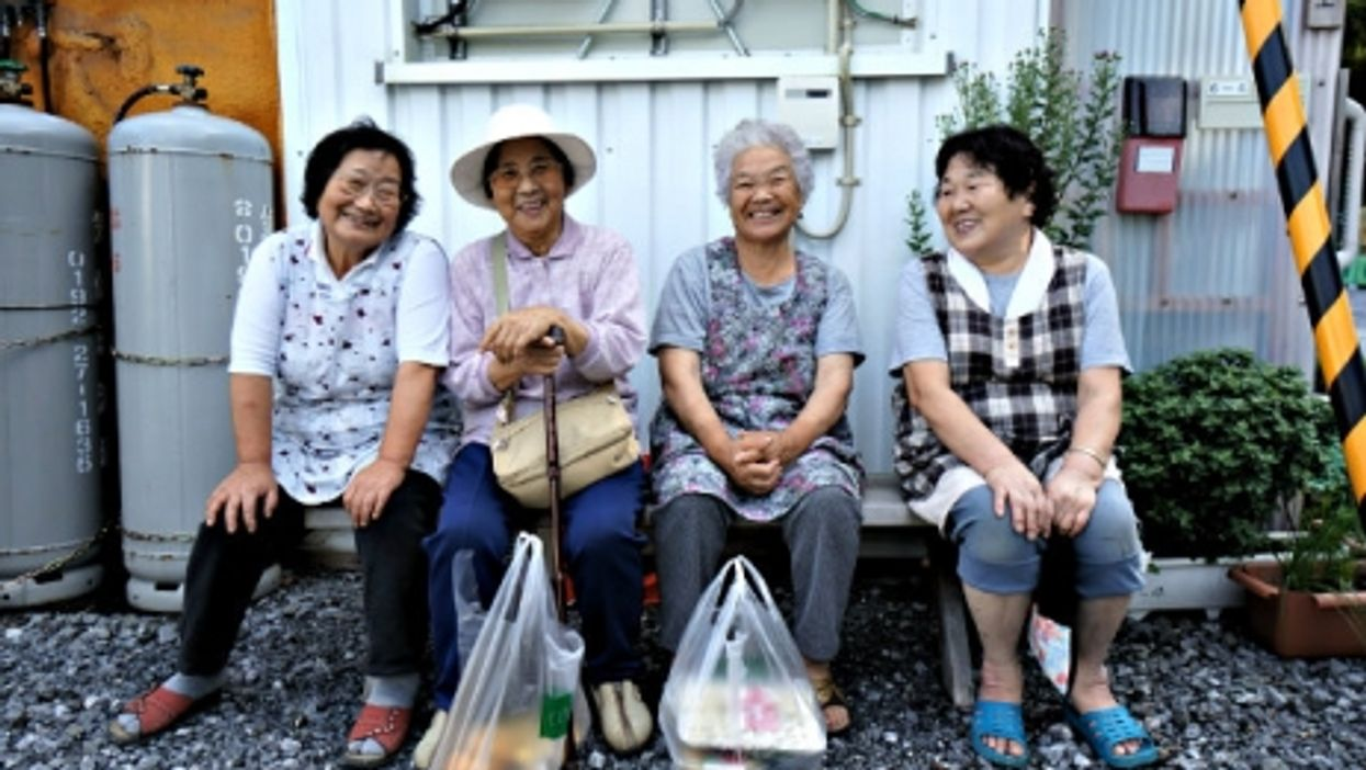 Four smiles in Japan