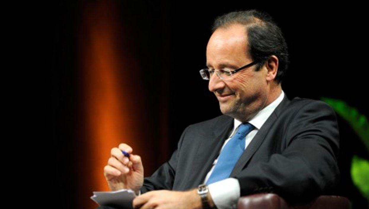 François Hollande in Rennes in January