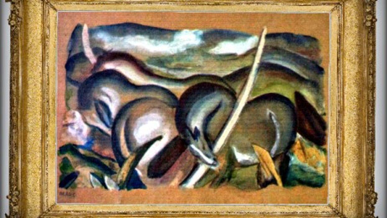 """Franz Marc's 1911 """"Horses in landscape"""", one of the 1,280 Gurlitt artworks"""