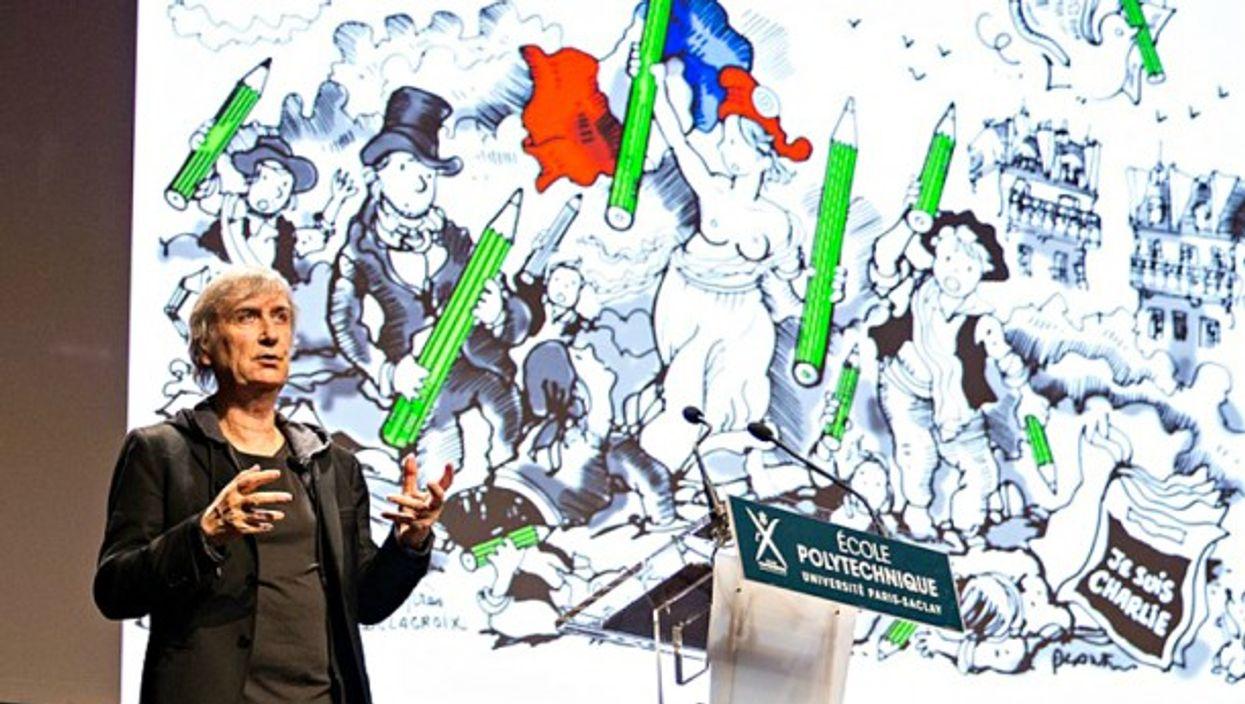 French cartoonist Plantu