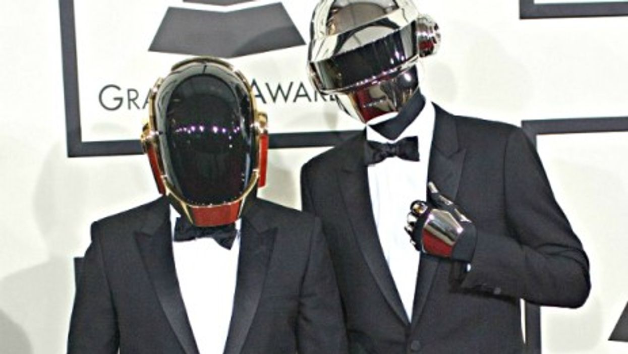 French electro duo Daft Punk got lucky at the 56th Grammy Awards