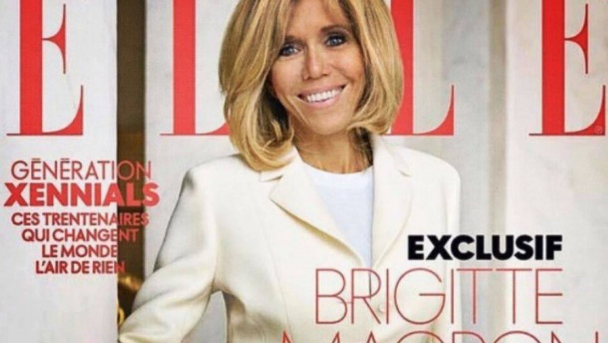 French First Lady Brigitte Macron on Elle cover