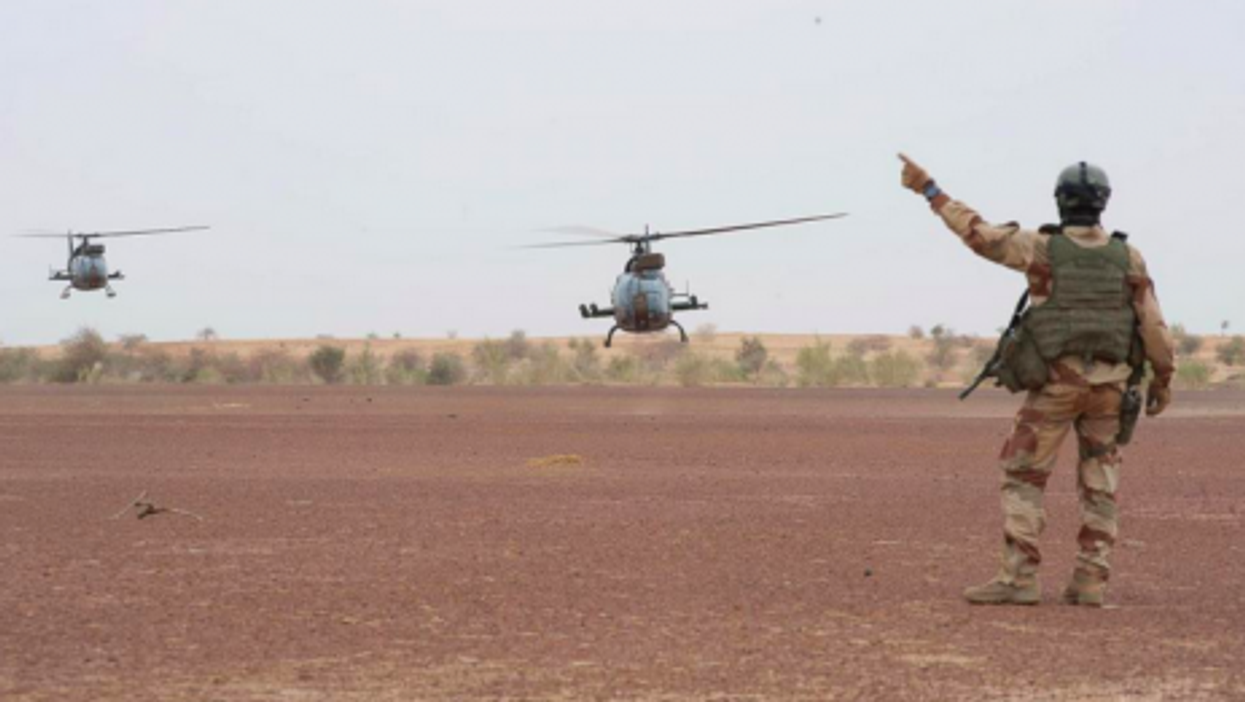 French helicopters in Mali