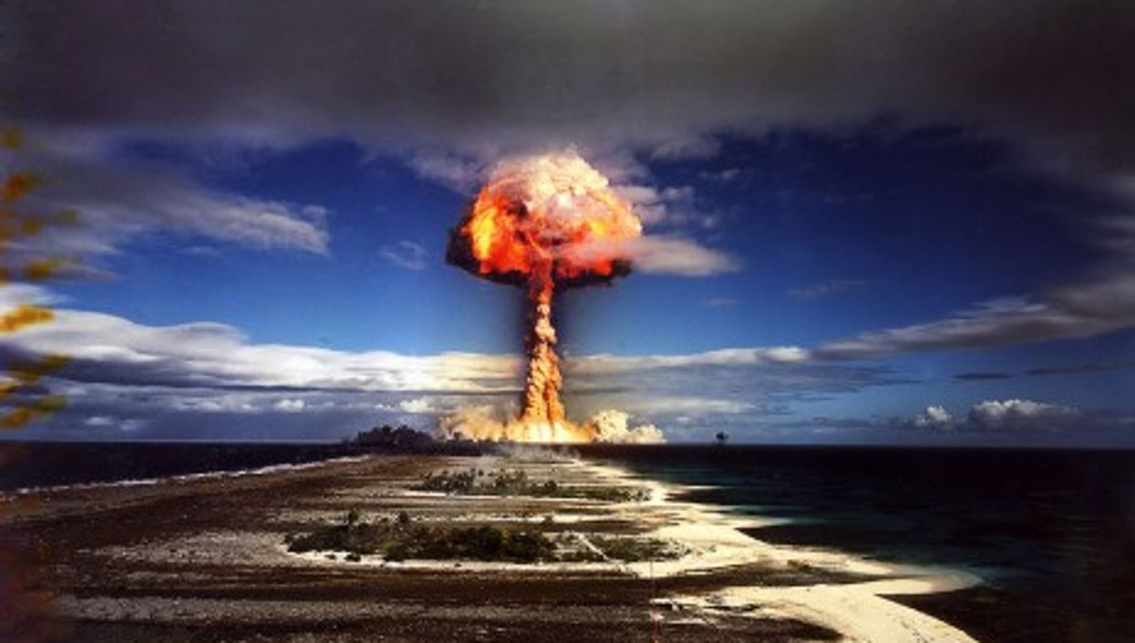 French nuclear test in the Pacific (James Vaughan)