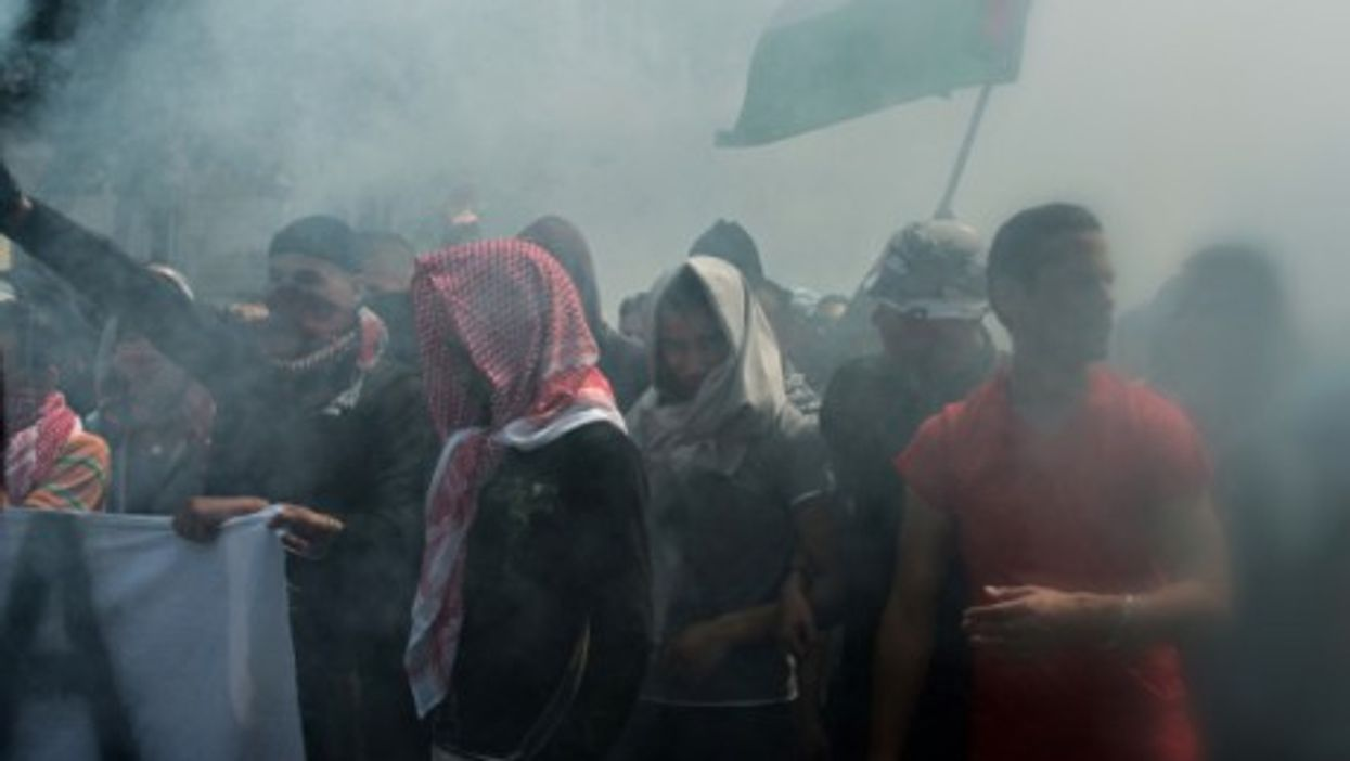 French Police clash last Saturday with pro-Palestinian protesters in Paris