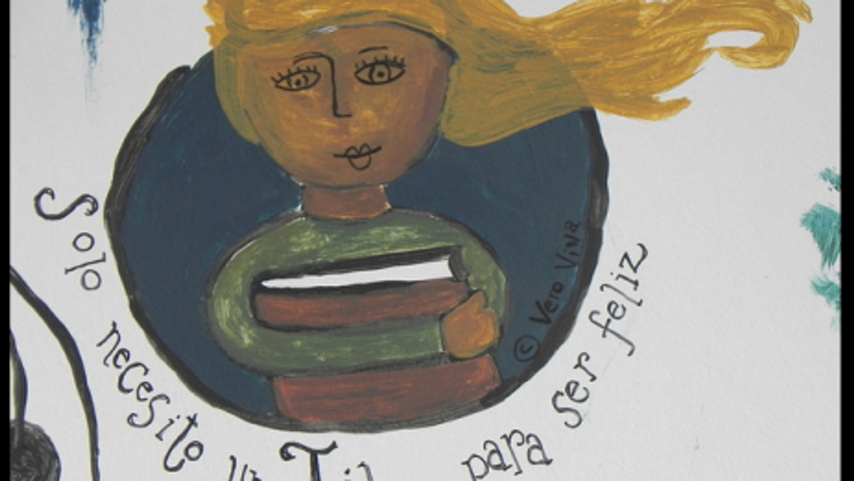 From a mural In Buenos Aires, where books are now celebrated, not burned as they once were...