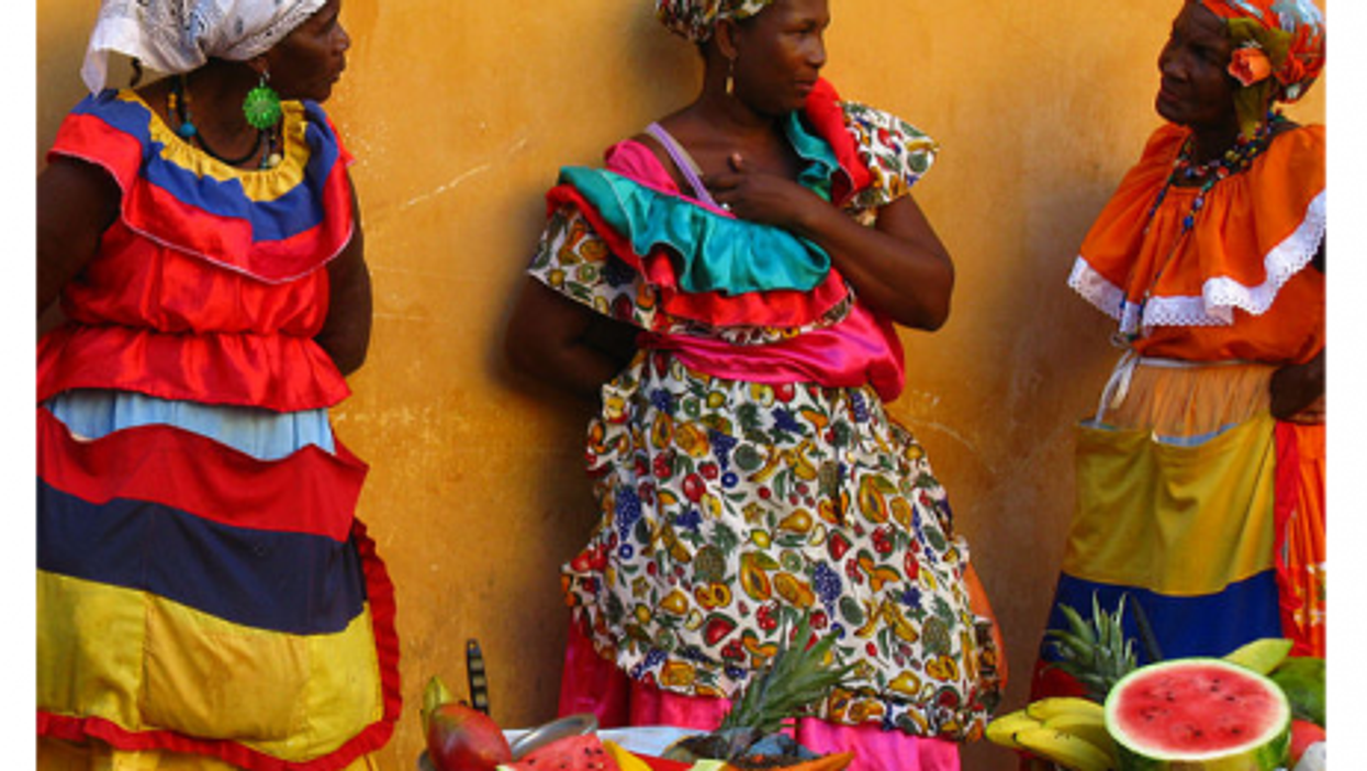 Fruit sellers in Cartegna