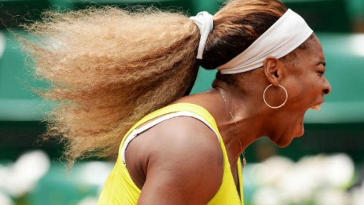 Frustrated defending champion Serena Williams crashed out of the French Open Wednesday.