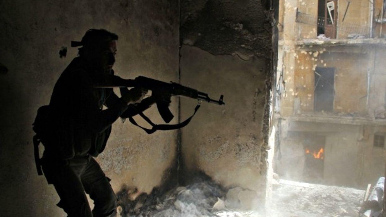 FSA soldier in Aleppo on Aug. 16