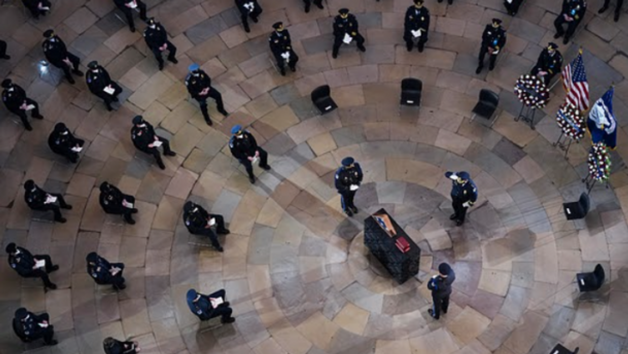 Funeral for Capitol Police officer Brian Sicknick, who died in Jan. 6 riots